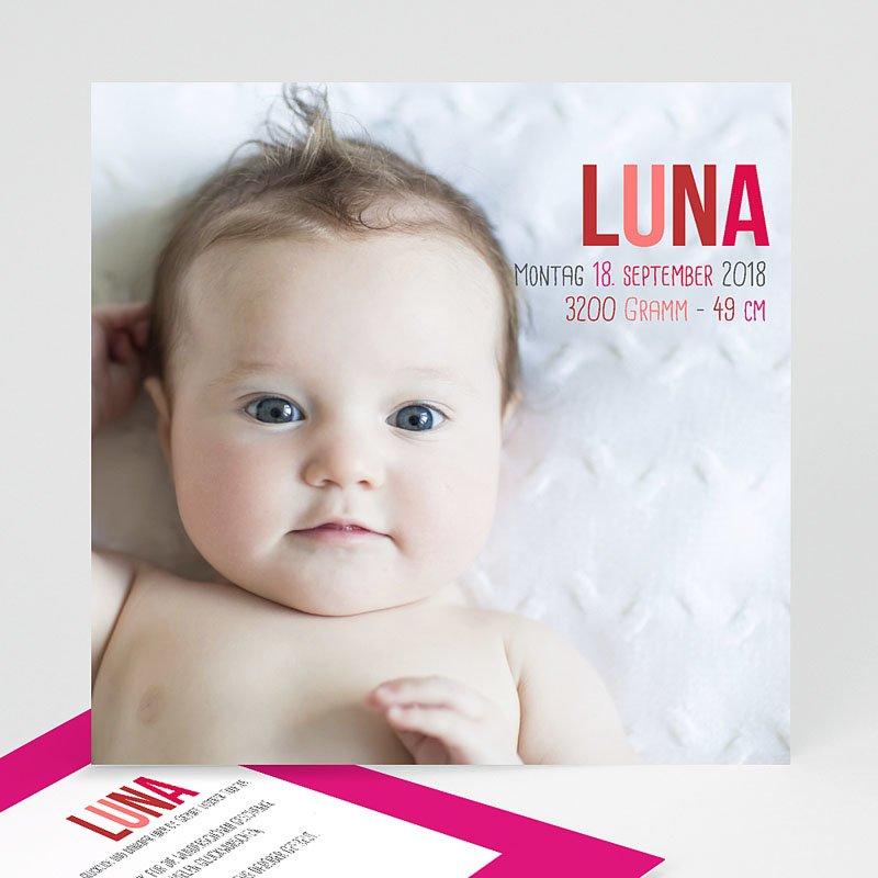 Geburtskarten für Mädchen Rötlich