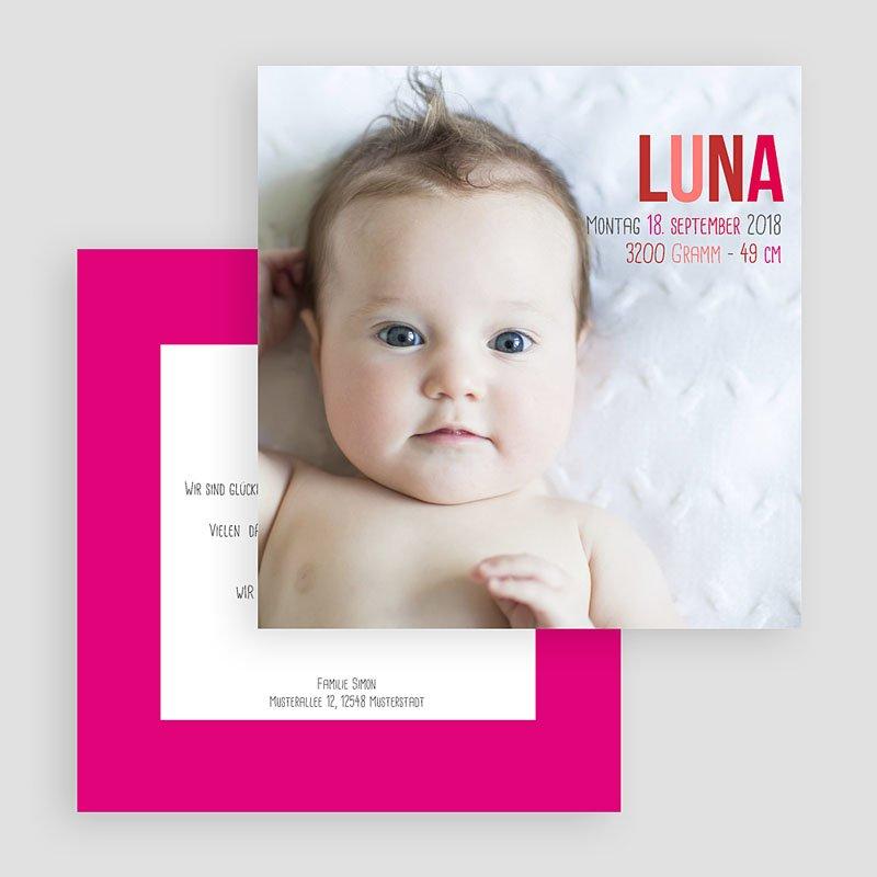 Geburtskarten für Mädchen Rötlich gratuit