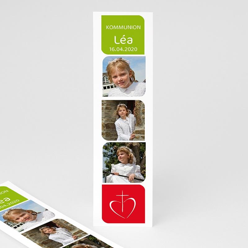 Personalisierte Lesezeichen Rot Grün