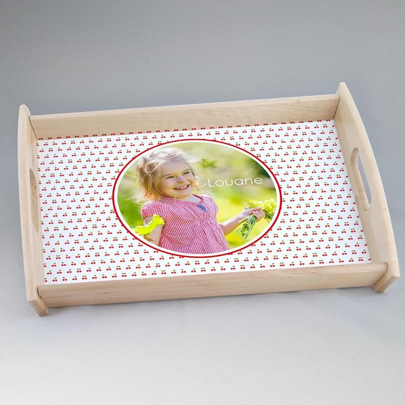 Personalisierte Foto-Tablett  Frühling