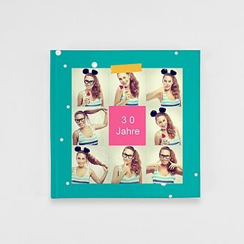 Fotobücher Quadratisch 20 x 20 cm - Geburtstag Flashy - 0