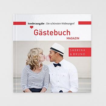 Fotobücher Quadratisch 30 x 30 cm - Gästebuch Rot - 0