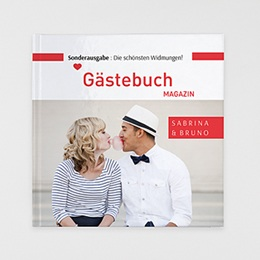 Fotobuch Quadratisch 30 x 30 cm - Gästebuch Rot - 0