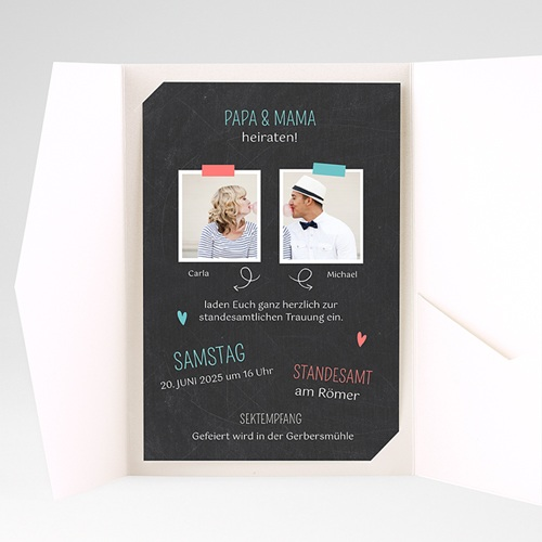 Hochzeitskarten Querformat - Familie 36885 preview