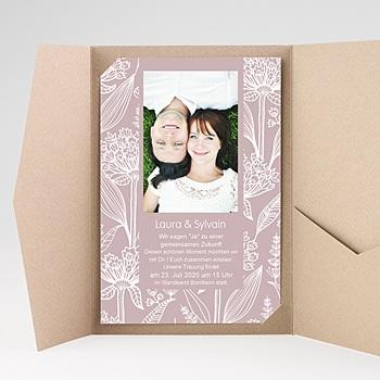 Hochzeitskarten Querformat - Blütenzauber - 0