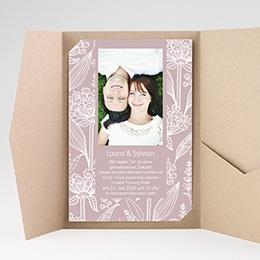 Hochzeitskarten Querformat Blütenzauber