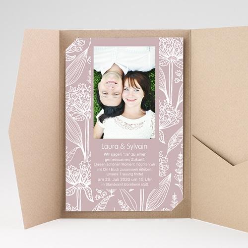 Hochzeitskarten Querformat - Blütenzauber 36914 preview