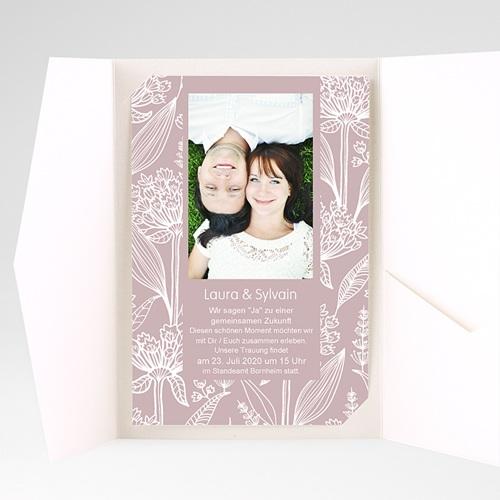 Hochzeitskarten Querformat - Blütenzauber 36915 preview