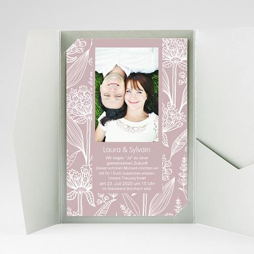 Hochzeitskarten Querformat - Blütenzauber 36916 preview
