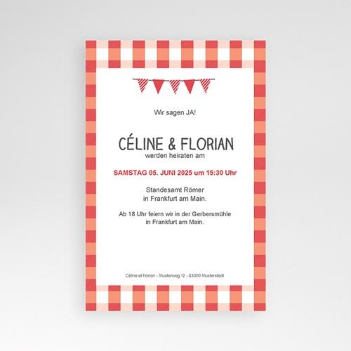 Hochzeitskarten Querformat - Ambiente Vichy 36929 test