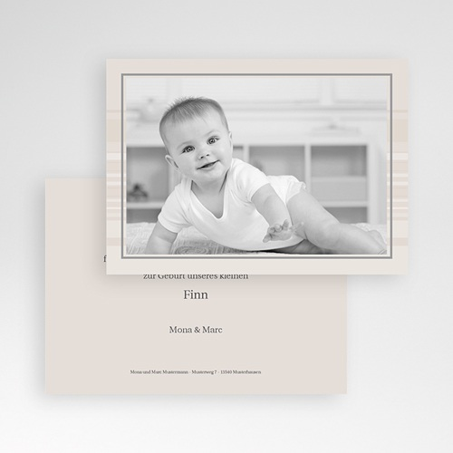 Dankeskarten Geburt für Jungen Luca pas cher