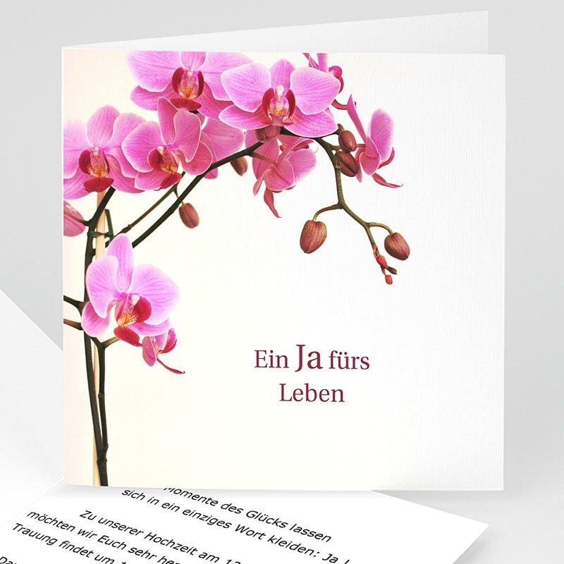 Hochzeitskarten ohne Foto - Orchidee klassisch 3696 thumb