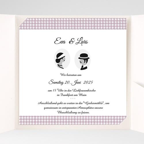 Hochzeitskarten Quadratisch Lady pas cher