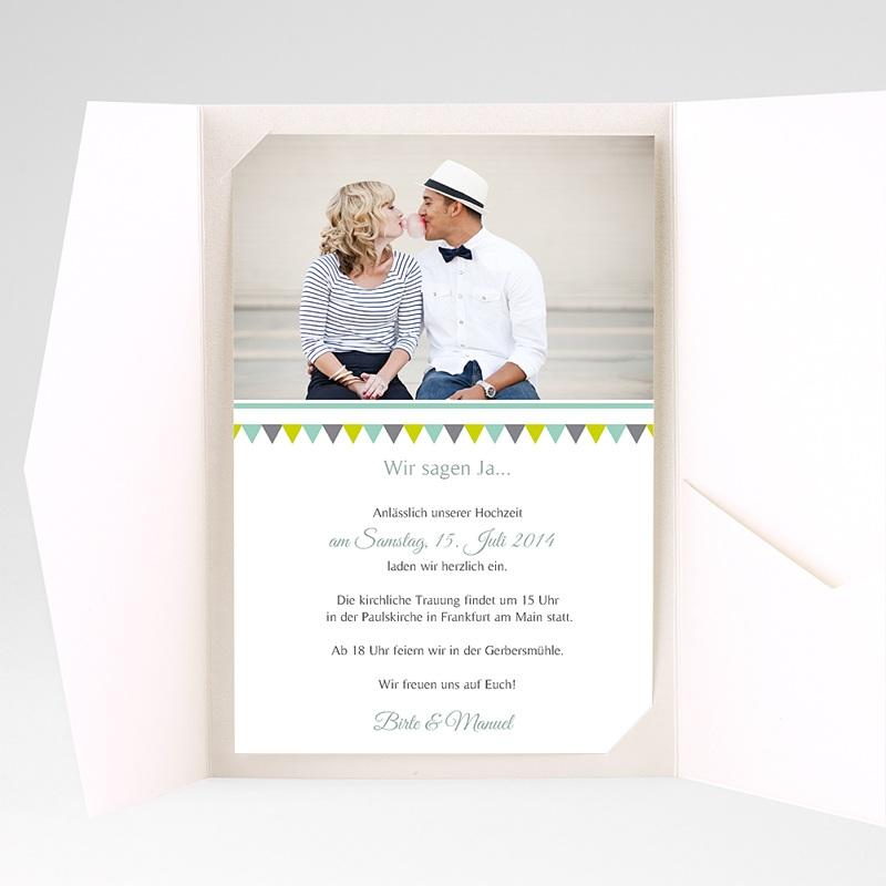 Hochzeitskarten Querformat Charmant pas cher