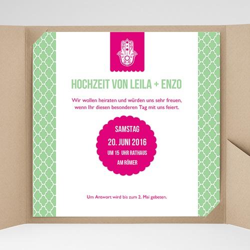 Hochzeitskarten Quadratisch - Minztee 37034 preview