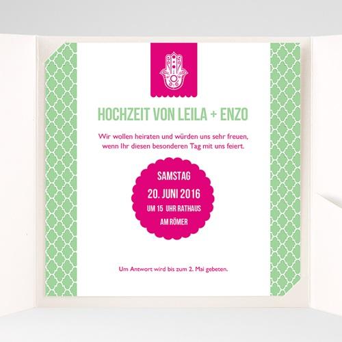 Hochzeitskarten Quadratisch - Minztee 37035 preview