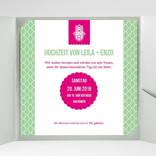 Hochzeitskarten Quadratisch - Minztee 37036 preview