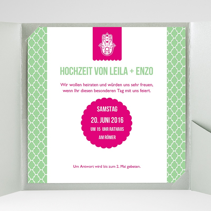 Hochzeitskarten Quadratisch Minztee gratuit