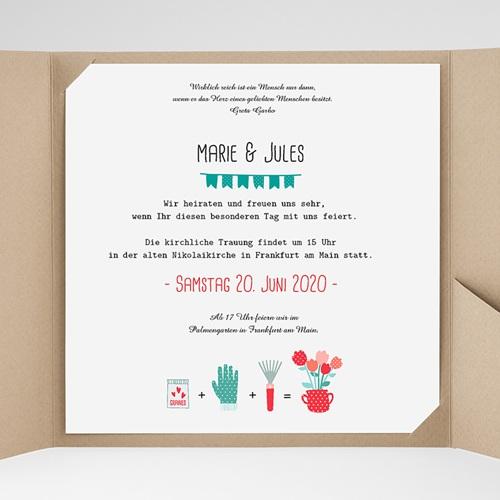 Hochzeitskarten Quadratisch - Liebesbeet 37070 preview
