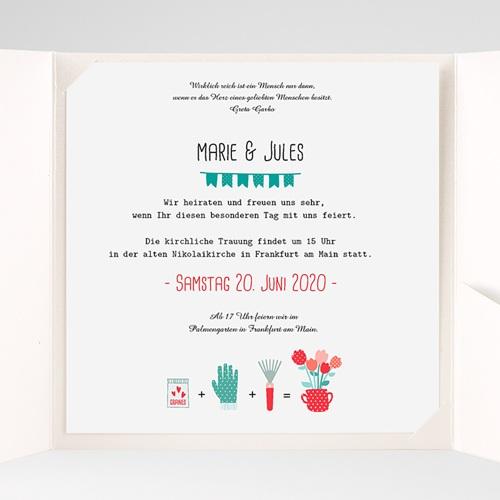 Hochzeitskarten Quadratisch Liebesbeet pas cher
