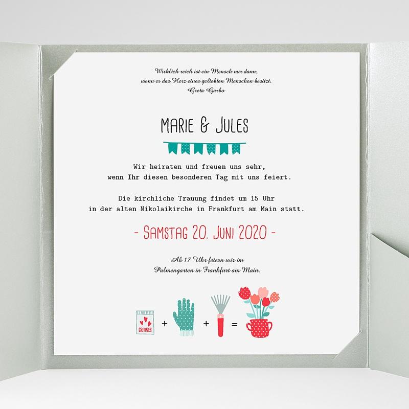 Hochzeitskarten Quadratisch Liebesbeet gratuit
