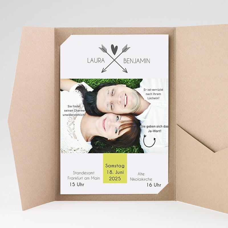 Hochzeitskarten Querformat - Liebespfeil 37082 thumb