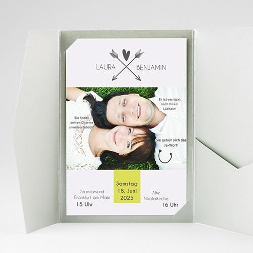 Hochzeitskarten Querformat - Liebespfeil 37084 test