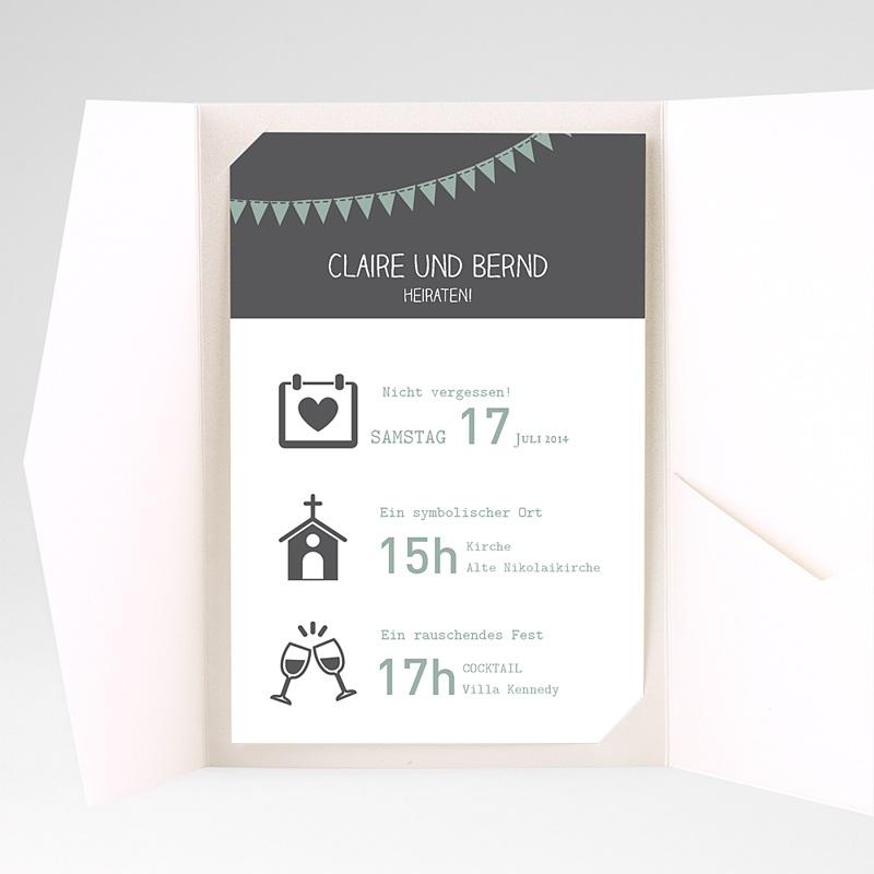 Hochzeitskarten Querformat Mathilde pas cher