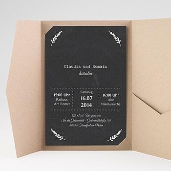 Hochzeitskarten Querformat - Tafelstil chic - 0