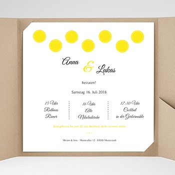 Hochzeitskarten Quadratisch - Inspiration Zitrone - 0