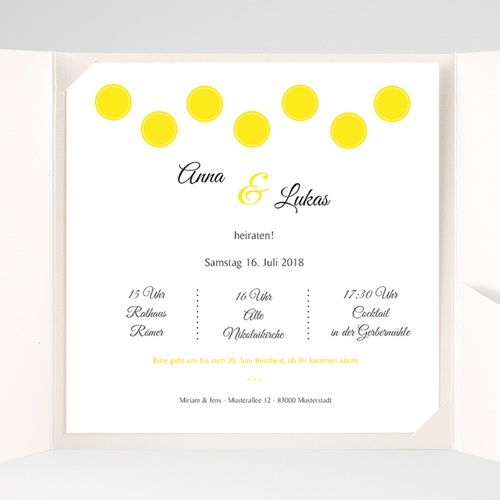 Hochzeitskarten Quadratisch - Inspiration Zitrone 37167 preview