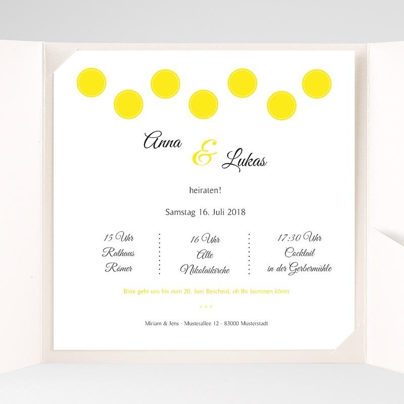 Hochzeitskarten Quadratisch Inspiration Zitrone pas cher
