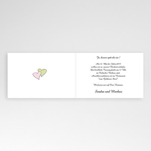Hochzeitseinladungen modern - Blumen in Pastell 3717 preview