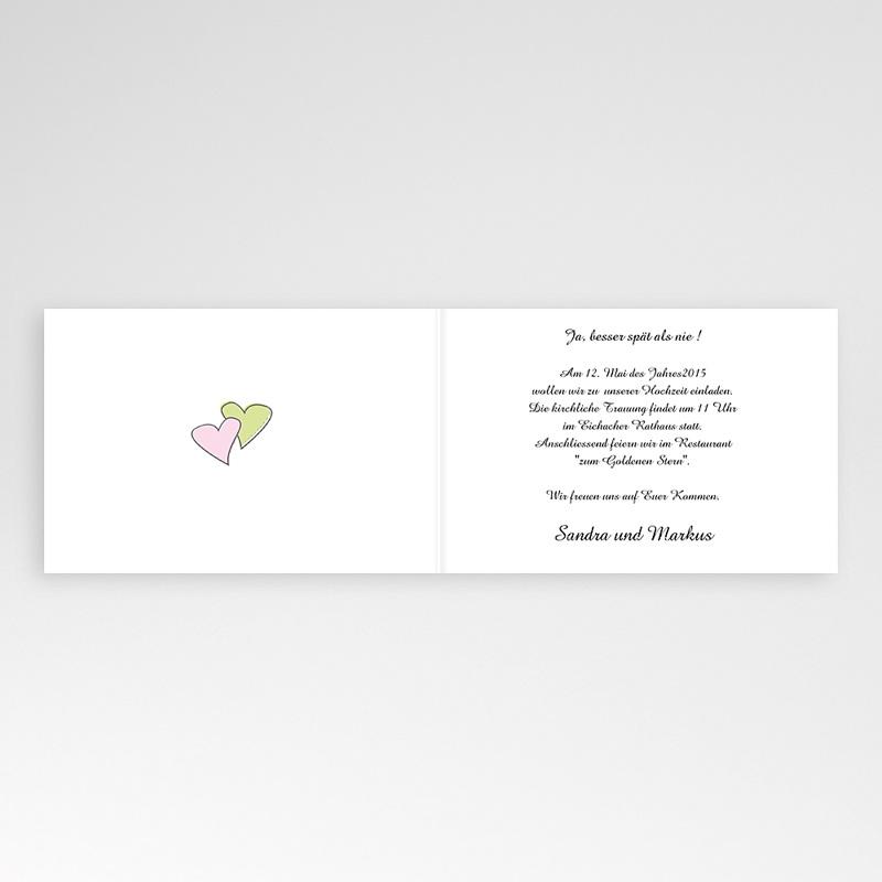 Hochzeitseinladungen ohne Foto Blumen in Pastell pas cher