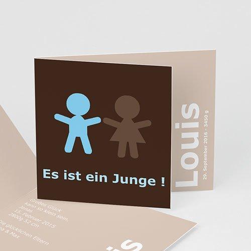 Babykarten für Jungen - Schokolade 3720