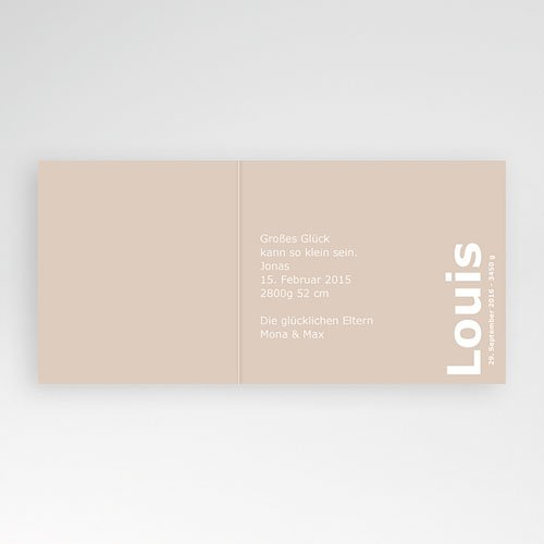 Babykarten für Jungen - Schokolade 3721 preview