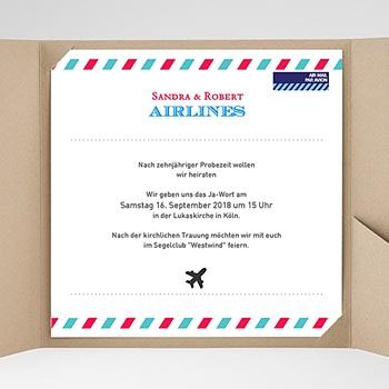 Hochzeitskarten Quadratisch Airlines