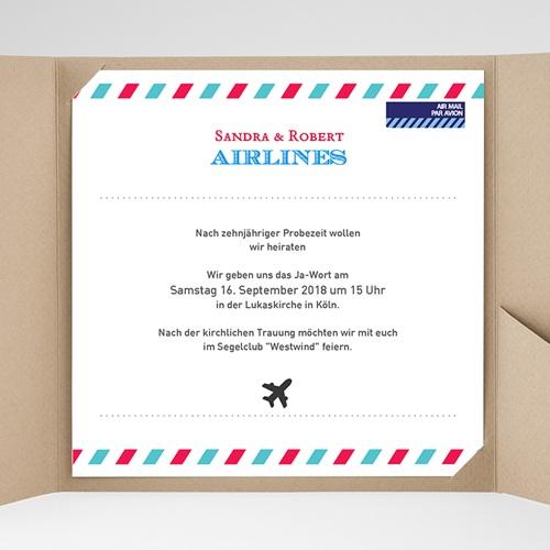 Hochzeitskarten Quadratisch - Airlines 37214 preview