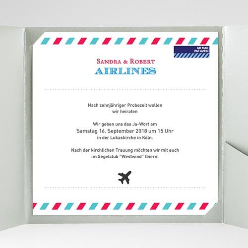Hochzeitskarten Quadratisch - Airlines 37216 preview