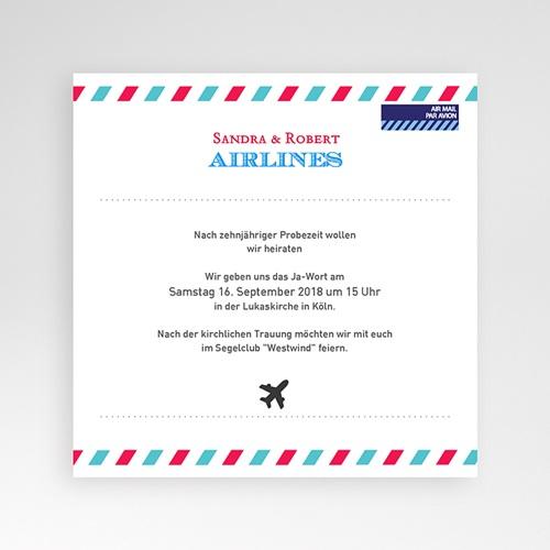 Hochzeitskarten Quadratisch - Airlines 37217 preview