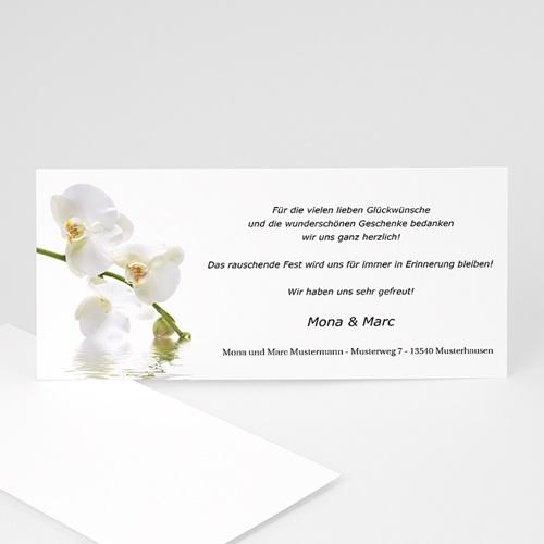 Danksagungskarten Hochzeit  Orchidee