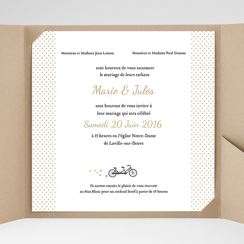 Hochzeitskarten Quadratisch - Tandem 37334 preview