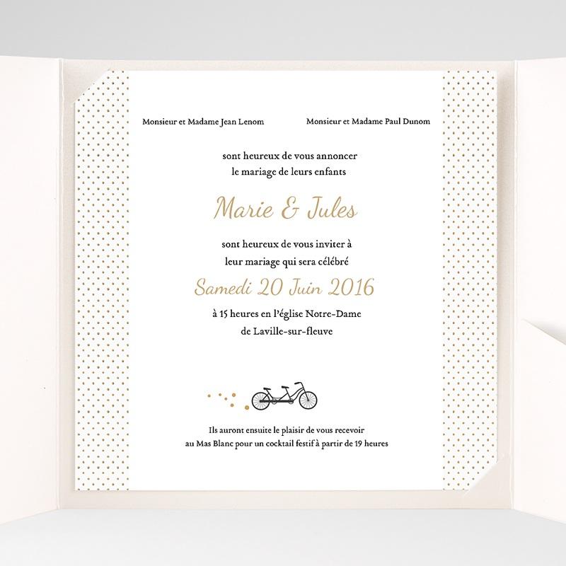 Hochzeitskarten Quadratisch Tandem pas cher