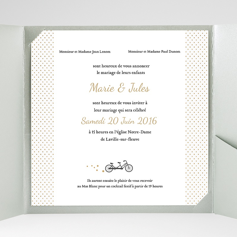 Hochzeitskarten Quadratisch Tandem gratuit