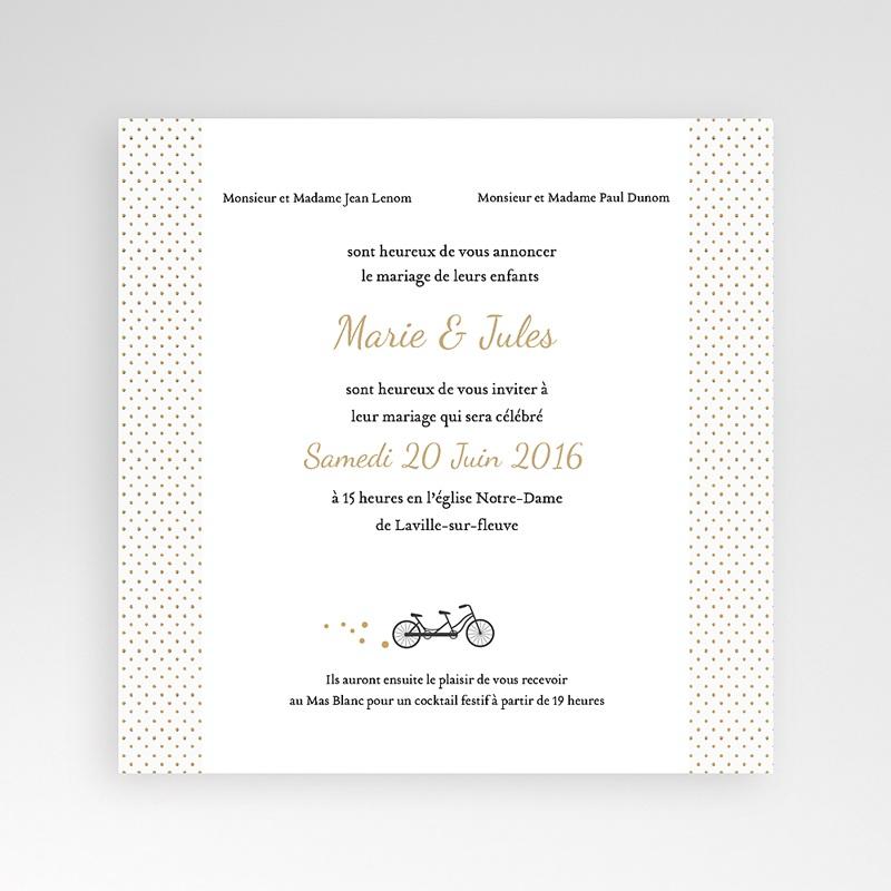 Hochzeitskarten Quadratisch Tandem