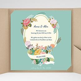 Hochzeitskarten Quadratisch - Vintage Romantik - 0