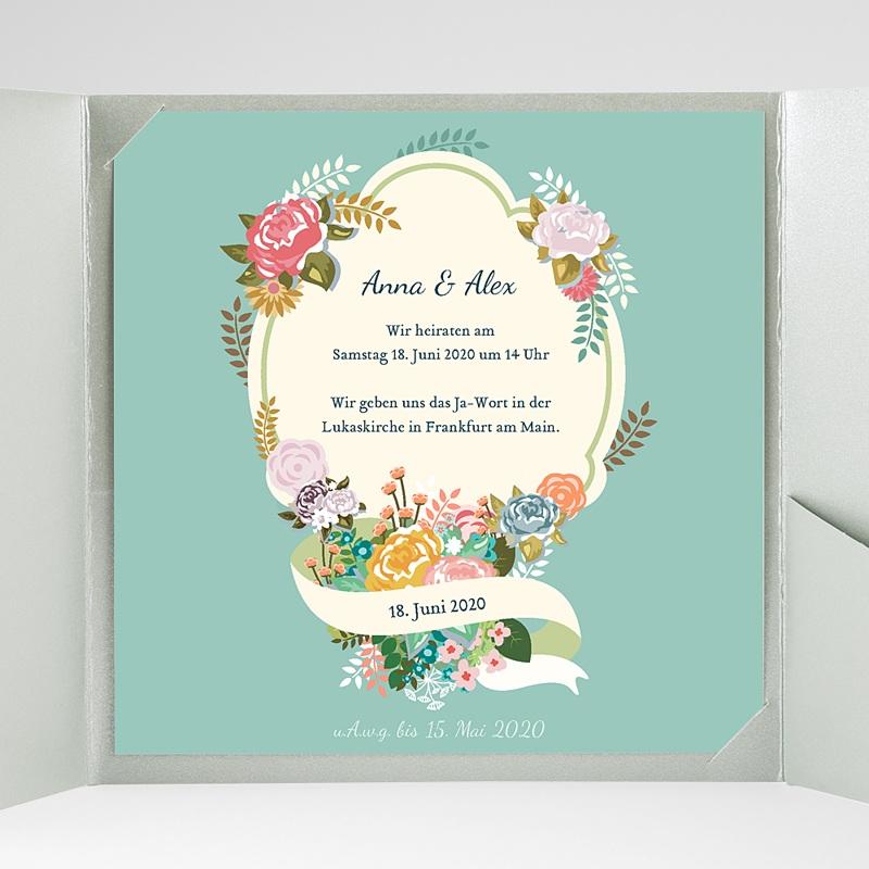 Hochzeitskarten Quadratisch - Vintage Romantik 37360 thumb