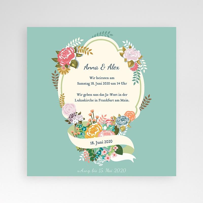 Hochzeitskarten Quadratisch - Vintage Romantik 37361 thumb