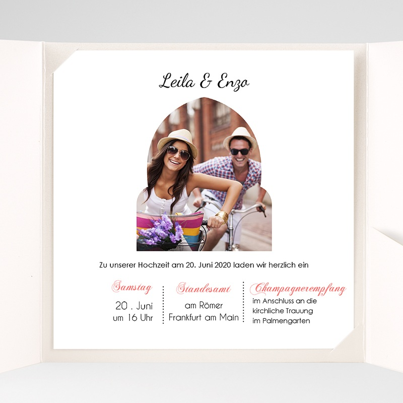 Hochzeitskarten Quadratisch 1001 Nacht pas cher