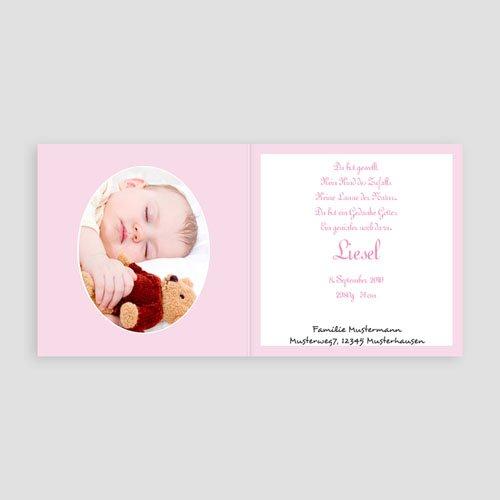 Geburtskarten für Mädchen - Vichy rosa 3745 preview